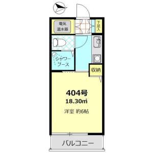 1K Mansion in Akasaka - Minato-ku Floorplan