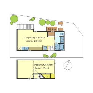 1LDK {building type} in Hinoka issaikyodanicho - Kyoto-shi Yamashina-ku Floorplan
