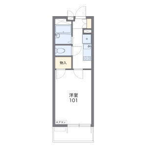 1K Mansion in Daida - Abiko-shi Floorplan