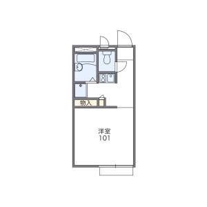 1K Apartment in Owada - Yachiyo-shi Floorplan