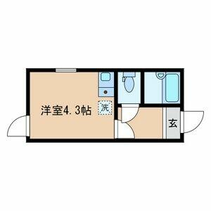 1R Apartment in Higashirokugo - Ota-ku Floorplan