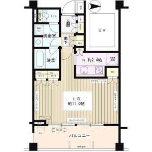 1K Mansion in Seijo - Setagaya-ku Floorplan