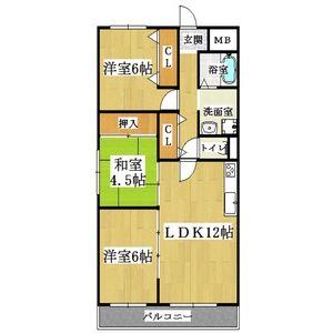 3LDK Mansion in Aoyamacho - Yao-shi Floorplan
