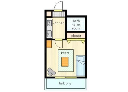 在浦安市內租賃1R 公寓大廈 的房產 房間格局