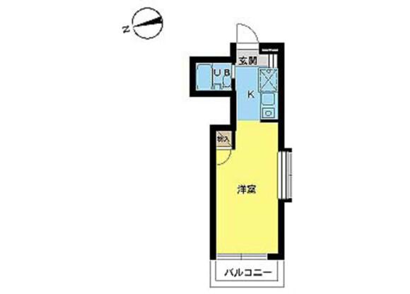 1R Apartment to Rent in Kawasaki-shi Miyamae-ku Floorplan