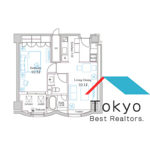 1LDK Mansion in Hyakunincho - Shinjuku-ku Floorplan