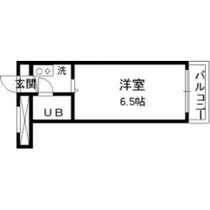 1K Mansion in Chitosedai - Setagaya-ku Floorplan