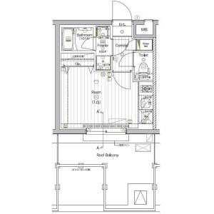 1R Mansion in Nishishinagawa - Shinagawa-ku Floorplan