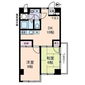 2DK Mansion in Takinogawa - Kita-ku Floorplan