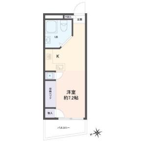 1R Apartment in Higashishinkoiwa - Katsushika-ku Floorplan