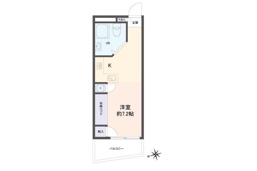 在Katsushika-ku購買1R 公寓的房產 房間格局