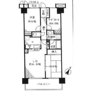 3LDK Mansion in Dezuminato - Chiba-shi Chuo-ku Floorplan