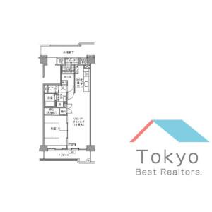 1LDK Mansion in Nishiochiai - Shinjuku-ku Floorplan