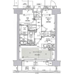 1SLDK Mansion in Utsubohommachi - Osaka-shi Nishi-ku Floorplan