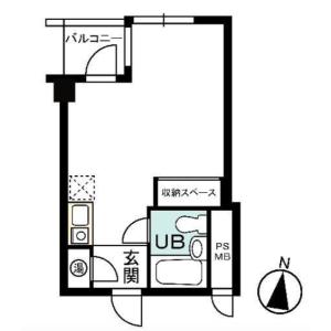 港区 西麻布 1R {building type} 間取り