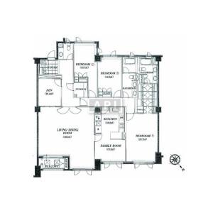 3SLDK Apartment in Jingumae - Shibuya-ku Floorplan