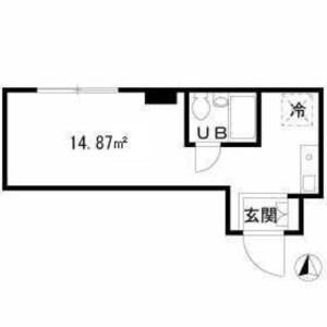 1R Mansion in Ueno - Taito-ku Floorplan