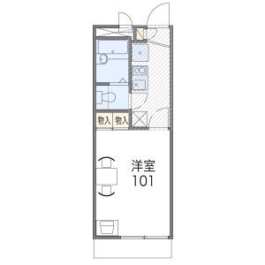 1K Mansion in Uesumiyoshi - Osaka-shi Sumiyoshi-ku Floorplan