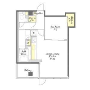 1LDK Mansion in Kamezawa - Sumida-ku Floorplan