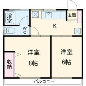 2K Mansion in Denenchofu - Ota-ku Floorplan