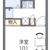 1K 아파트 to Rent in Ebina-shi Floorplan