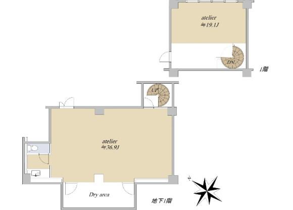 2K Apartment to Buy in Shinjuku-ku Floorplan