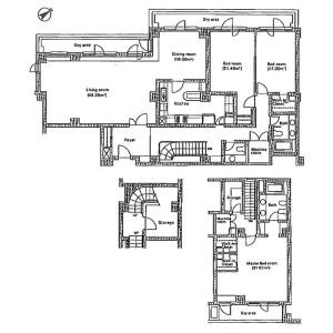港区元麻布-3LDK公寓 楼层布局
