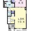 1LDK Apartment to Rent in Matsudo-shi Floorplan
