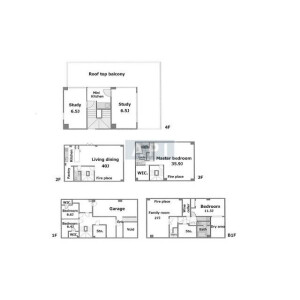 7SLDK House in Sendagaya - Shibuya-ku Floorplan