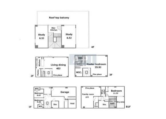 7SLDK House to Buy in Shibuya-ku Floorplan