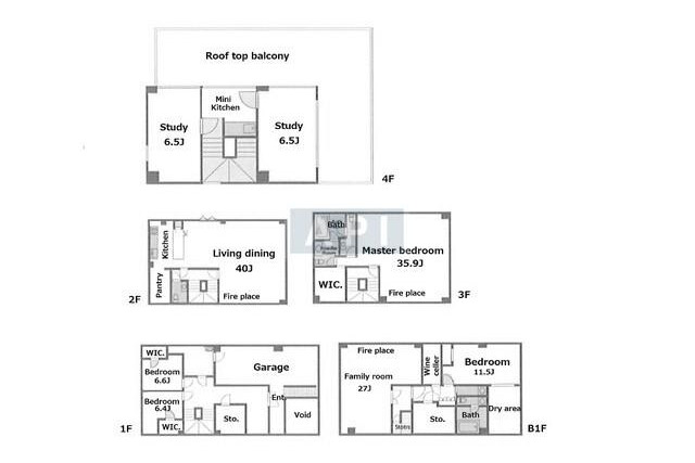 7SLDK House to Buy in Shibuya-ku Floorplan