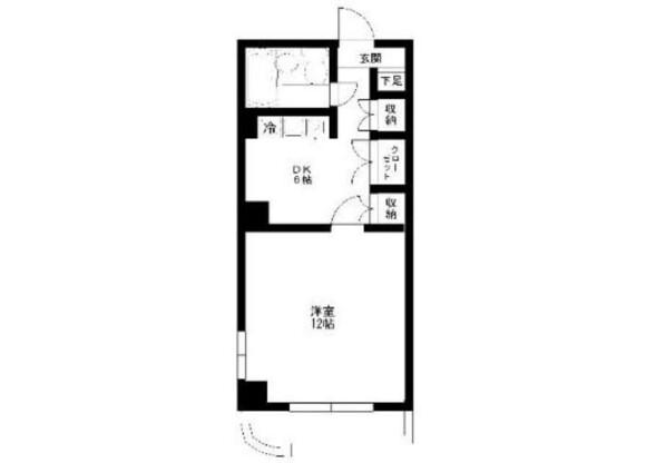1DK Apartment to Rent in Nerima-ku Floorplan