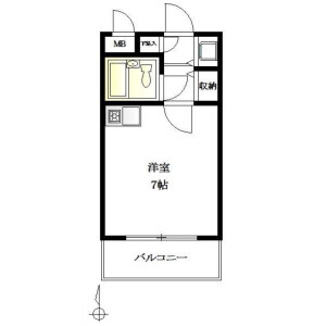 1R {building type} in Yaraicho - Shinjuku-ku Floorplan