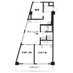 2SLDK Mansion in Ebisu - Shibuya-ku Floorplan