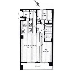 2LDK Apartment in Higashi - Shibuya-ku Floorplan