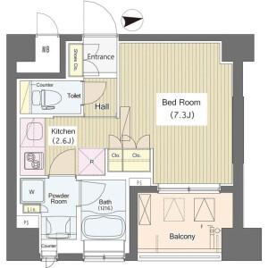 1K Mansion in Higashinakano - Nakano-ku Floorplan