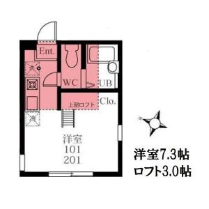 1R Apartment in Minamiota - Yokohama-shi Minami-ku Floorplan