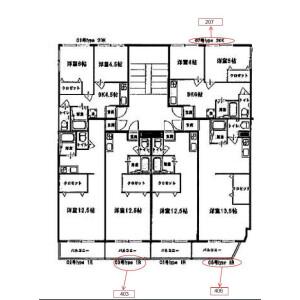 2DK Mansion in Tamadehigashi - Osaka-shi Nishinari-ku Floorplan