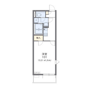 1K Mansion in Shinjo - Kawasaki-shi Nakahara-ku Floorplan
