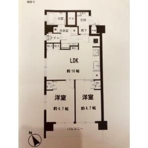 2LDK {building type} in Yotsuya - Shinjuku-ku Floorplan