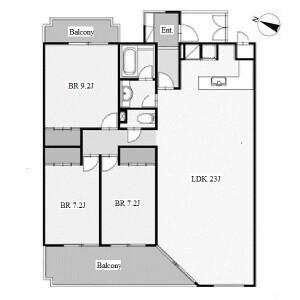 3LDK Apartment in Haruyamacho - Nagoya-shi Mizuho-ku Floorplan
