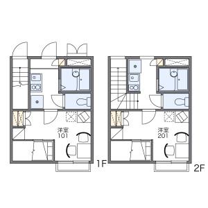 名古屋市熱田區二番-1K公寓 房間格局