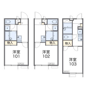 1K Apartment in Uwamachi - Yokosuka-shi Floorplan