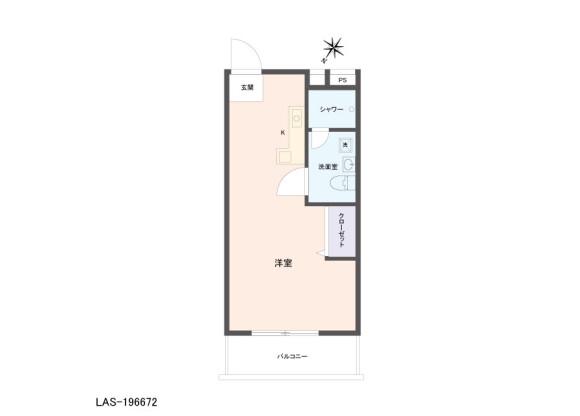 1R Apartment to Buy in Chiba-shi Inage-ku Floorplan