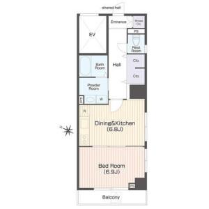 1DK Mansion in Nihonzutsumi - Taito-ku Floorplan