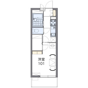 1K Mansion in Kyoritsudori - Osaka-shi Abeno-ku Floorplan