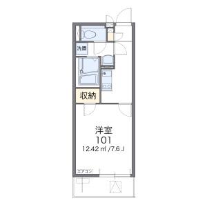 1K Mansion in Nagatakita - Yokohama-shi Minami-ku Floorplan