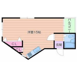 1R Mansion in Fuminosato - Osaka-shi Abeno-ku Floorplan