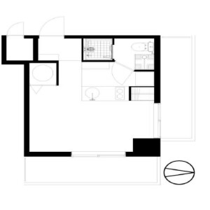1R {building type} in Shinjuku - Shinjuku-ku Floorplan