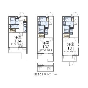 1K Mansion in Takatahigashi - Yokohama-shi Kohoku-ku Floorplan